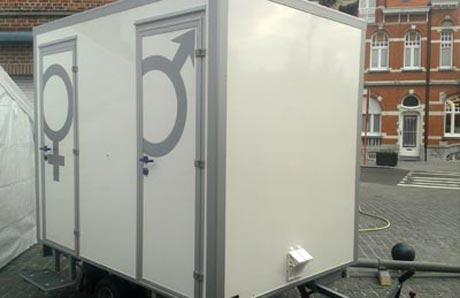 Huur een kleine toiletwagen tot personen a s toiletwagens
